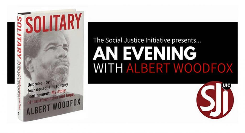 An evening with Albert Woodfox, book cover