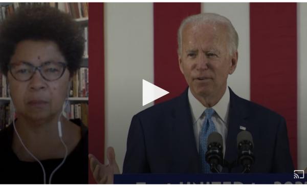 Image of Dr. Barbara Ransby and Joe Biden