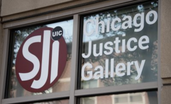 the front of the building that is the Chicago Justice Gallery