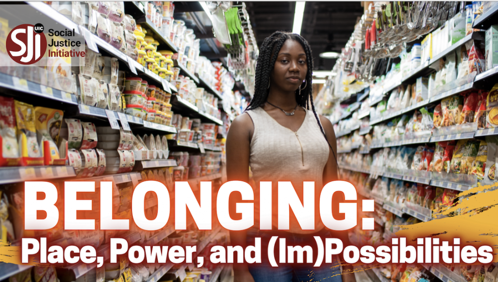Young woman standing in grocery store where she was made to feel she didn't belong